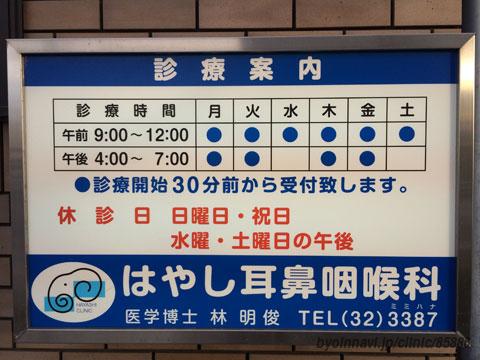 はやし 耳鼻 咽喉 科 札幌 道庁前はやし耳鼻咽喉科